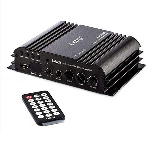 900W Mini Amplificador HiFi Audio, Hi-Fi Stereo Amplificador de Audio Digital de DVD USB SD FM estéreo Audio MP3 de Radio del Coche del Altavoz de Bluetooth Amplificador HiFi