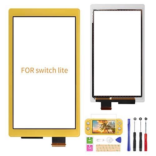 A-MIND Nur Touchscreen-Digitizer für Nintendo Switch Lite, Front-Touch-Panel-Ersatzteile, Reparatur-Set mit kostenlosem Werkzeug-Reparatur-Set + Displayschutzfolie...