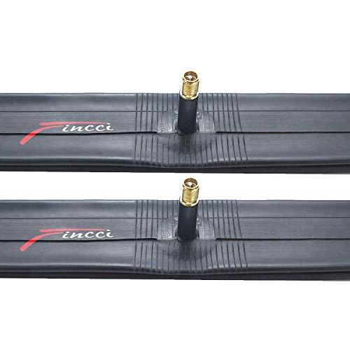 Fincci Paar 26 x 1,25 1,50 Zoll 48mm Autoventil Schläuche Fahrradschlauch für Mountainbike MTB Rennrad Hybrid Fahrrad (2er Pack)