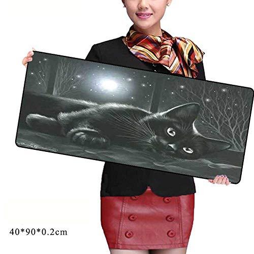 HonGHUAHUI zwarte kat muismat notebook computer muismat high-end stuur boy vrienden het beste cadeau 400x900X2MM A06