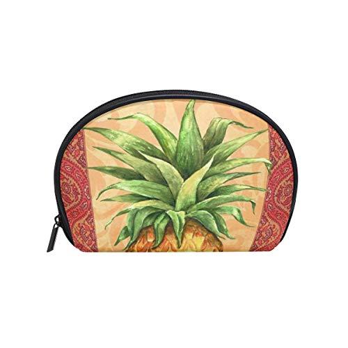 Trousse de maquillage pochette florale d'ananas florale