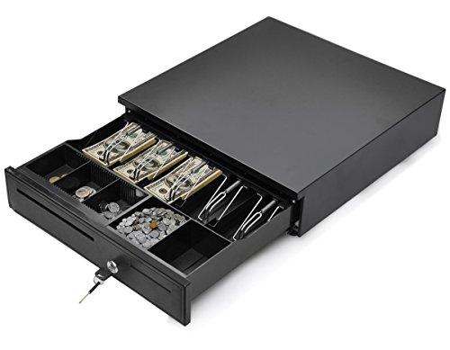Tangkula Cajón registrador, para sistema de punto de venta (POS) con bandeja extraíble para...