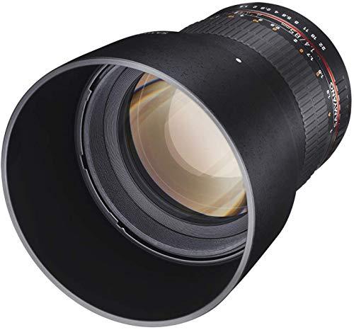 Samyang MF 85mm F1,4 AS IF UMC für Canon EF – Vollformat Portrait Objektiv für Canon EF/EF-S Mount, geeignet für APS-C, manueller Fokus, für DSLR...