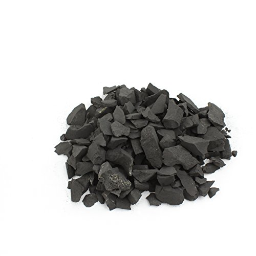 Heka Naturals Pierres Shungite pour la Purification d'eau, 1000 g de Fragments de Shungite Brute Noire Mate Figure en Pierre Shungite Anti-Radiation Authentique de Carélie (Russie) | 1000 g