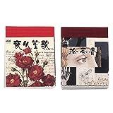 EXCEART 730 Hojas Vintage Scrapbooking Material Papel Retro Floral Plantas Diario Papel Hoja Artesanía Papel para DIY Arte Proyecto Materiales Diario