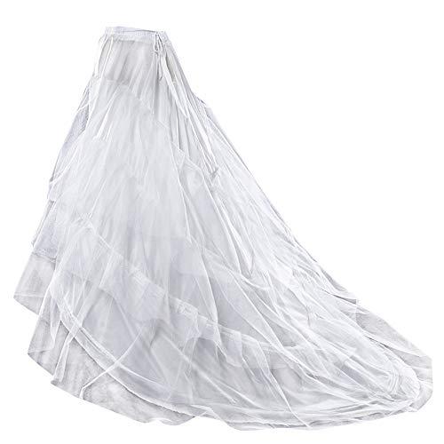 Sleep Reifrock bruidsjurk tule rok petticoat, tule Reifrock crinoline - 2 ringen verstelbaar Underskirt dames lang onderrok voor bruiloft jurken baljurken avondjurken bruidsjurken Promjurk