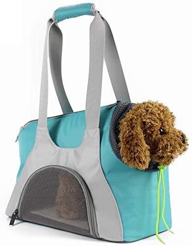 YYhkeby Portador del Animal doméstico for los pequeños Perros y Gatos, Viajes Bolsa for Animales pequeños con una Malla de Caras (Verde) Jialele