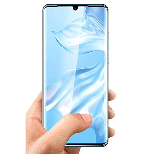 QOMFNG Funda Protectora de Pantalla 3Pcs 9H, para Huawei P40 P20 P30 Lite Psmart 2021 Y9 Nova 7SE 5 P20 Pro Vidrio Templado Protector, para Huawei Mate 30 20