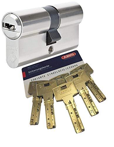 ABUS Bravus.2000 Sicherheits - Doppelzylinder mit 6 Schlüssel, Länge 45/50mm mit Sicherungskarte und höchstem Kopierschutz, Zusatzausstattung: Not- u. Gefahrenfunktion