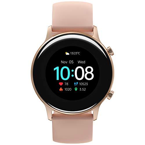 UMIDIGI Urun S Smartwatch Fitness Tracker, wasserdichte Fitnessuhr Smart Watch mit Blutsauerstoff-Monitor(SpO2), Pulsuhr, Schlafmonitor, Schrittzähler, Stoppuhr für Damen und Herren, Rosa Gold
