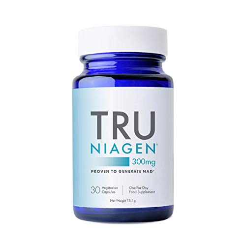 TRU NIAGEN Nicotinamide Riboside NAD+ Supplement for Reduction of Tiredness & Fatigue, Patented Formula NR is More Efficient Than NMN - 30 Count - 300mg Per Serving (1 Months / 1 Bottle)