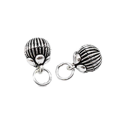 2 encantos de campana de plata de ley 925, campanas de campana, para collar de pulsera