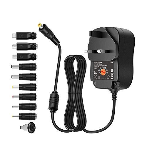 36w AC DC Power Adapter Switch Charger 3v 4.5v 5v 6v 7.5v 9v 12v 2000mA Universal Charger Transformer Multi Plug Tip USB 5v DC Power Supply For Tablet PC Router Speaker CCTV Phone Xmas Tree Led Light