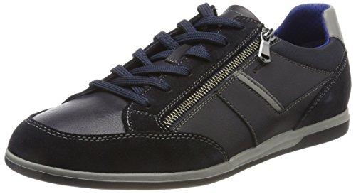 Geox Herren U Renan C Sneaker, Blau (Navy), 45 EU