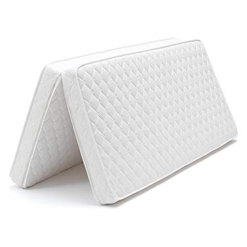 Tojo Ergo-Falt Faltmatratze, weiß 90(180) x200cm Kern: PUR-Schaumstoff mit Reißverschluss verbindbar