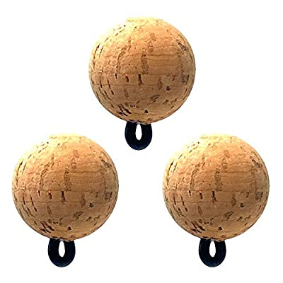 CorQs Strike Indicators - Fishing Bobbers - Made in USA - Eco Friendly, Natural Cork Floats with Rubber O-Ring Built for Flyfishing