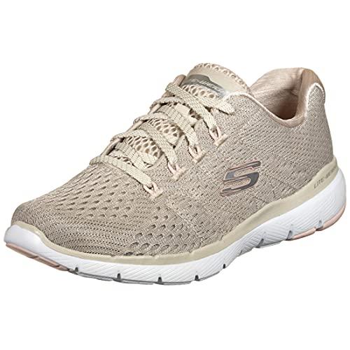 Skechers Sport Womens Flex Appeal 3.0 Satellites Sneakers Women Beige, Schuhgröße:39 EU