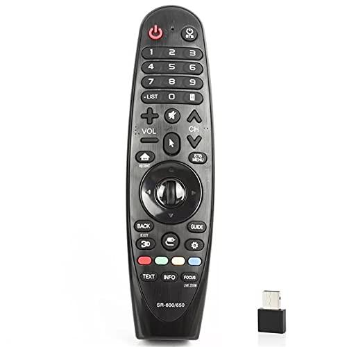 MJJCY Applica a Controllo remoto Universale per LG TV AN-MR600A AN-MR650A AN-MR18BA AN-MR19BA 55UK6200 4 9UH603V 42LF652V 5. 5UF8507 49UH619V. Sostituisci Il Telecomando (Color : 2.4G with gyro 2)