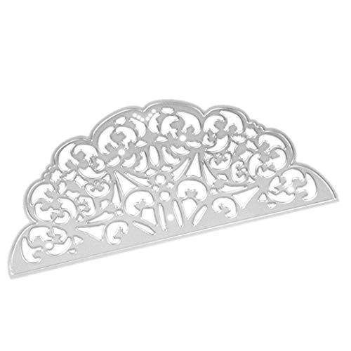 JiaMeng DIY Juego de Troqueles, Plantillas de moldes de Corte de Metales del Corazš®n de la Flor Troqueladora y Estampadora,Die-Planta,Scrapbooking (O, tamaño Libre)