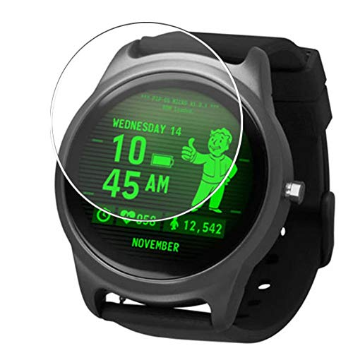 Vaxson 3 Unidades Protector de Pantalla, compatible con Fallout smart watch Smartwatch [No Vidrio Templado] TPU Película Protectora