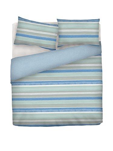 Italian Bed Linen CP-NC-2P Copripiumino, 100% Cotone, Turchese, Matrimoniale 250 x 200 cm + 2/52 x 82 cm, 3 unità