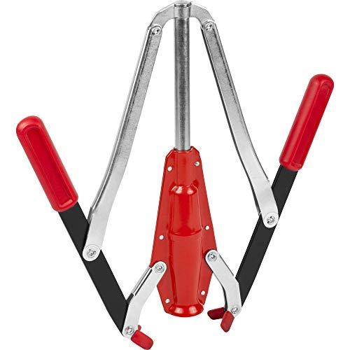 Browin 507001 Solide 2-Arm-Korkmaschine aus Metall, für Wein, einfach in der Anwendung – für Anfänger und Profis, Kunststoff, rot, Big