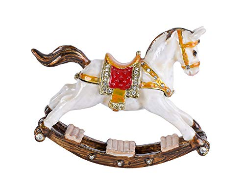 Deckeldose Schaukelpferd Vintage Dose Schmuckdose Pferdefigur Pillenbox Pferd cl204 Palazzo Exklusiv