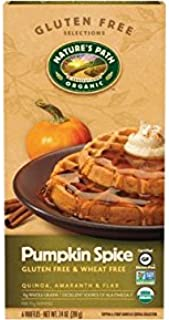 Nature's Path Pumpkin Spice Waffles, Gluten Free, 7.4 oz (Frozen)