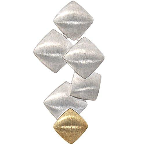 JOBO Damen-Anhänger aus 925 Silber und 585 Gold