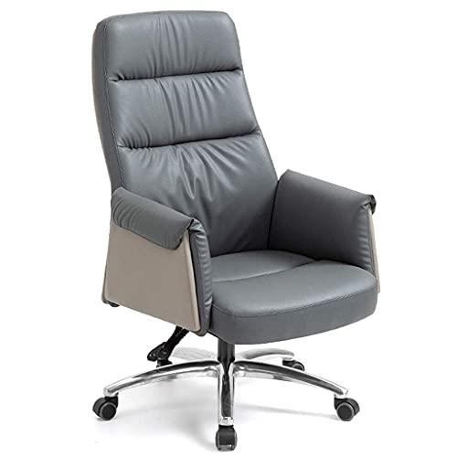 N&O Renovierungshaus Bürostühle Leder Bürostuhl Computerstuhl Komfortabler sitzender Liege-Drehstuhl Ergonomischer Bürostuhl Rückenlehnenstuhl Schreibtischstühle (Color : Creamy White Size : Ohne