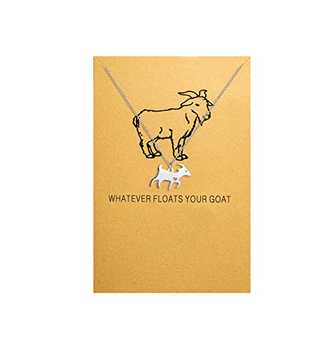Bestill Goat Necklace Animal Charm Stainless Steel Jewelry Gift for Your Friend Lover Family