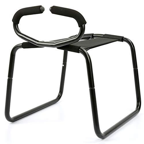 ZYAM Klappstuhl Multifunktionales Sexspiel Leichter Stuhl Neuheit Bounce Spielzeug für Paar Pose, Handschellen Knebel Augenbinde Binding Set A
