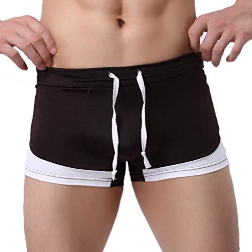 KPILP Herren Boxer Boxershorts Strandhosen Badeshorts Shorts Sportswear Freizeit Slip Schwimmen Schwimmen Kurze Hose Stämme Limited Edition(Kaffee,L)