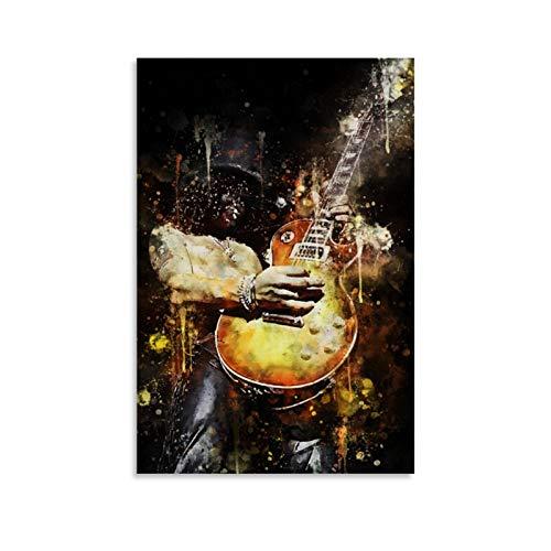 Dahee Póster de guitarrista legendario guitarrista Slash Guns N Roses, cuadro decorativo para pared, para sala de estar, dormitorio, 30 x 45 cm