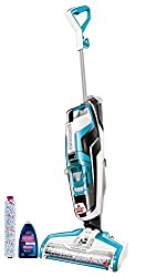 Dual-Action Brush Roll uses an innovative microfiber and nylon brush to mop and pick up dry debris at the same time. SmartClean Fingertip Controls on the handle allow you to easily switch between cleaning hard floors and area rugs. This on-demand moi...