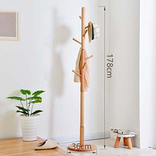 Dongyd - Perchero de estilo europeo, perchas, perchas de madera maciza (color: C)
