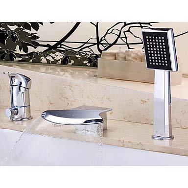 YALTOL Badewannenarmaturen - Moderne Chrom 3-Loch-Armatur Keramisches Ventil