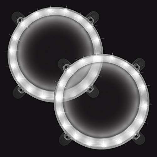 Blinngo Cornhole Boards Ring Lights, One Set of Two Cornhole Lights, Waterproof LED Cornhole Ring Lights Kit for Cornhole Bags, Bean Bags, Tailgate Games,Yard Games (White)