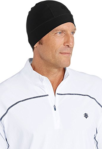 Coolibar UPF 50+ Unisex Aqua Sun Skully Cap - Sun Protective (One Size- Black)