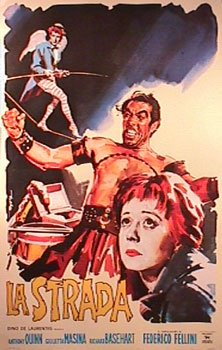 HUGE LAMINATED / ENCAPSULATED Federico Fellini - La Strada Vintage Italian Film POSTER measures approximately 100x70 cm Greatest Films Collection Directed by Federico Fellini. Starring Anthony Quinn, Giulietta Masina, Richard Basehart.