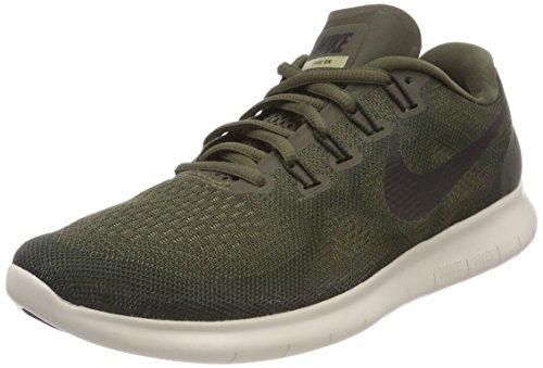 Nike Women's Free Rn 2017 Running Shoes, Green (Cargo Khaki/Black-Sequoia-Neutral Olive 301), 2.5 UK