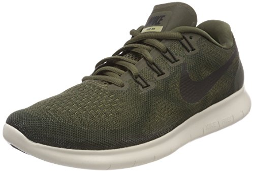 Nike Women's Free Rn 2017 Running Shoes, Green (Cargo Khaki/Black-Sequoia-Neutral Olive 301), 2.5 UK