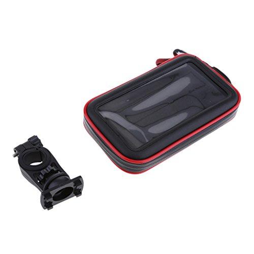 B Blesiya Soporte de Montaje en Manillar Bolsa Cremalleras Impermeables Bolsa Impermeable para Teléfono Celular - Negro XL