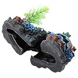 Coral Cave Decor, Coral Decor sin Resina para Acuario para Peces