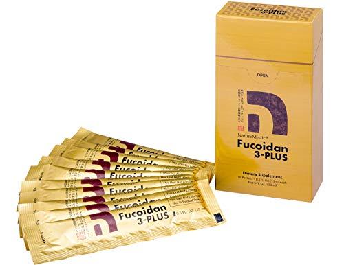 NatureMedic Fucoidan 3-Plus Brown Seaweed Immunity Supplement with Three Types of High Purity Fucoidan Organic Mekabu Fucus Mozuku Agaricus 10 Concentrated Liquid Packets Made in Japan