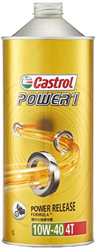カストロール エンジンオイル POWER1 4T 10W-40 1L 二輪車4サイクルエンジン用部分合成油 MA Castrol