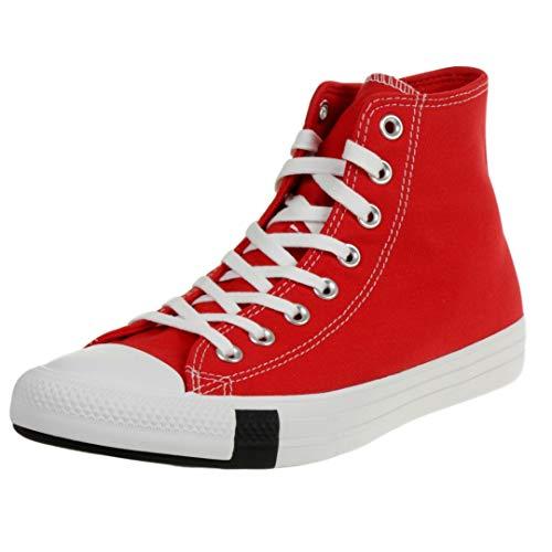 Converse All Star Multi Logo Hi Zapatillas De Deporte En Rojo Universitario...