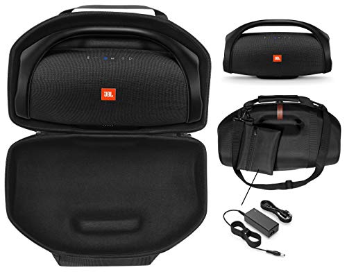 Boombox Speaker Case for JBL Boombox, Boombox 2 Waterproof Portable Bluetooth Speaker, Tailor Made semi- Hard case, Featured Handle and Shoulder Strap, Detachable Charger Pouch