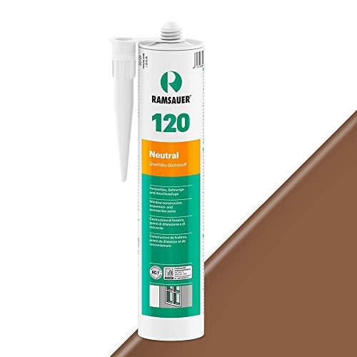 Ramsauer 120 Neutral 1K Silikon Dichtstoff 310ml Kartusche (Dunkelbraun)