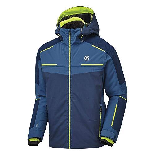 Dare 2b Herren Below Zero Pro Waterproof Breathable Taped Seams Underarm Vents Detachable Hood with Wired Peak Jacket Jacken, Nightfall/DarkDenim, L